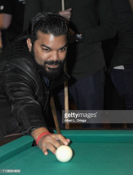 Adrian Dev participates in Young Variety's 13th Annual Pool Tournament Honoring Tony Cheng held at Fantasia Billiards on February 27 2019 in Burbank...
