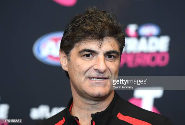 Adrian Dodoro the Bombers general manager of list and recruiting during the AFL Trade Period at Marvel Stadium on October 07 2019 in Melbourne...