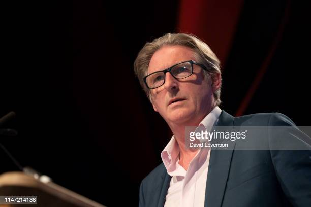 Adrian Dunbar actor during the 2019 Hay Festival on June 1 2019 in HayonWye Wales