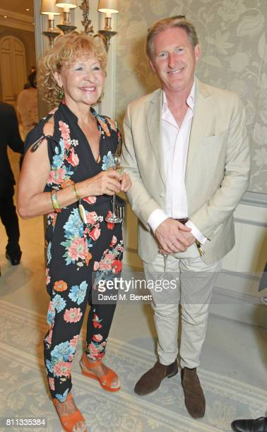 Adrian Dunbar and Anna Nygh attend The South Bank Sky Arts Awards drinks reception at The Savoy Hotel on July 9 2017 in London England