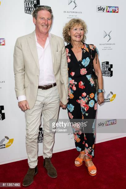 Adrian Dunbar and Anna Nygh attend The Southbank Sky Arts Awards 2017 at The Savoy Hotel on July 9 2017 in London England
