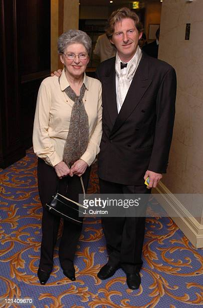 Adrian Dunbar and guest during St Patrick's Day 2004 Private Dinner at London Hilton Hotel in London England Great Britain