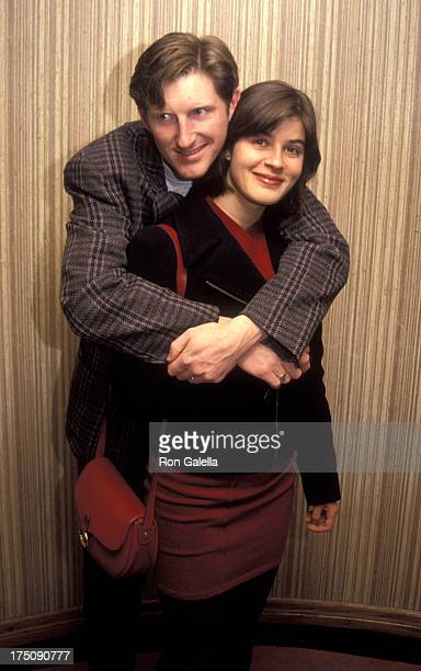 Adrian Dunbar and Irene Jacob attends 17th Annual Los Angeles Film Critics Awards on January 21 1992 at the Belage Hotel in West Hollywood California