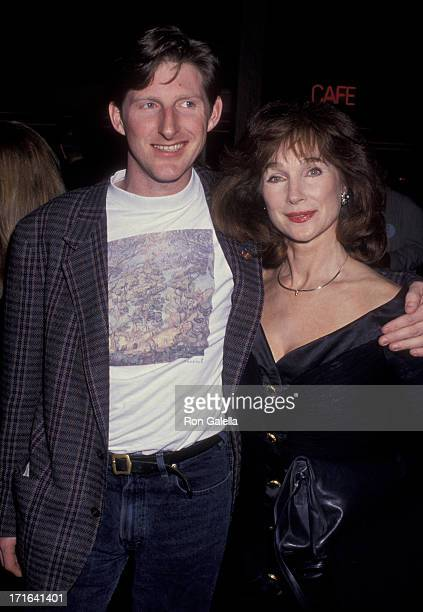 Adrian Dunbar and Shirley Anne Field attend 17th Annual Los Angeles Film Critics Circle Awards on January 21 1992 at the Belage Hotel in West...