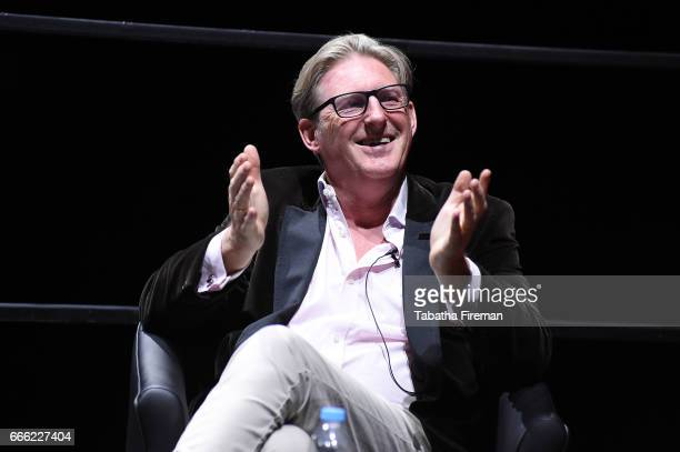 Adrian Dunbar speaks onstage during the panel discussion about 'Line of Duty' at the BFI Radio Times TV Festival at the BFI Southbank on April 8 2017...