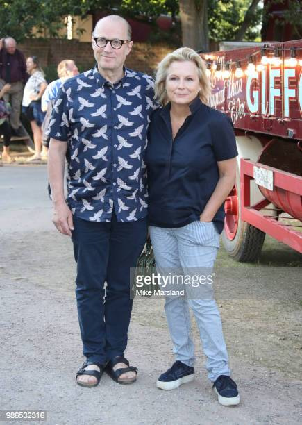 Adrian Edmondson and Jennifer Saunders attend Giffords Circus 'My Beautiful Circus' UK Premiere at Chiswick House Gardens on June 28 2018 in London...