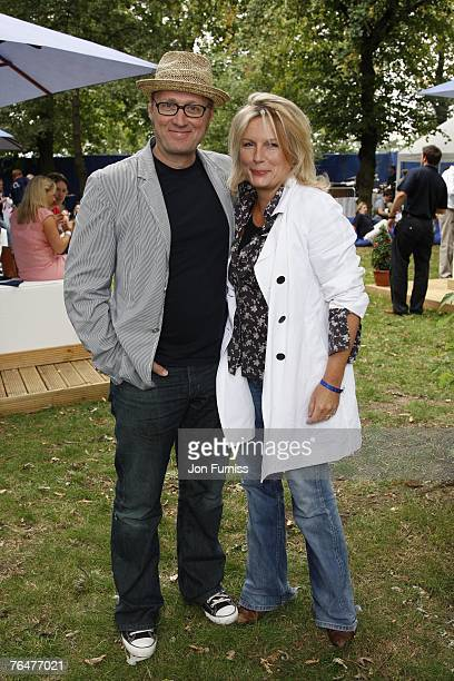 Adrian Edmondson and Jennifer Saunders attend the O2 Scrum in the park held in Regent's Park on September 2 2007 in London England