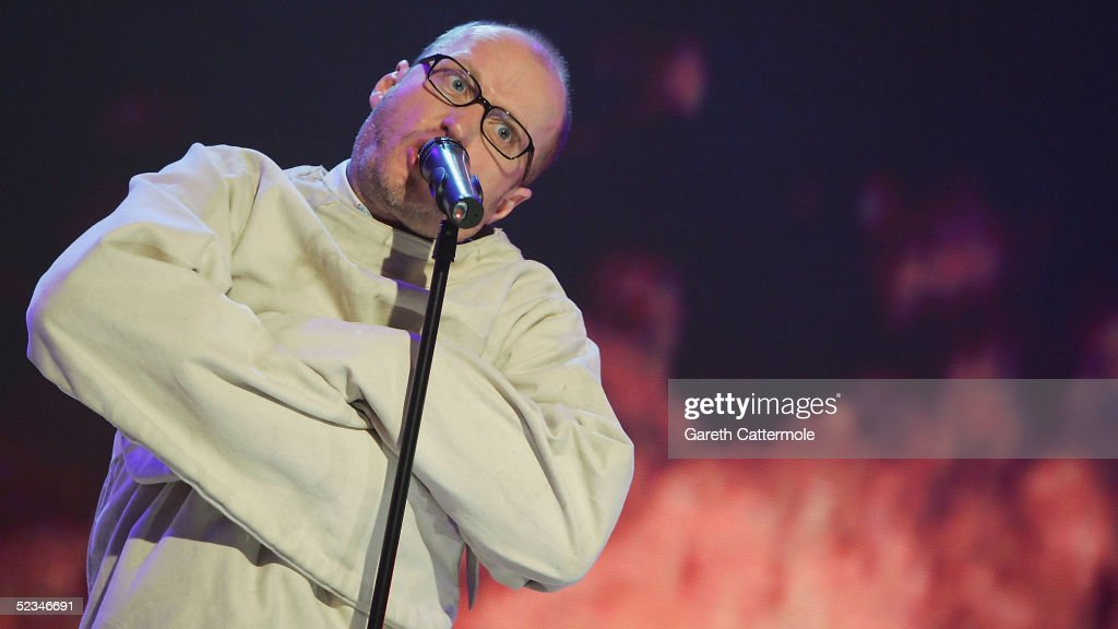 Adrian Edmondson is seen performing at the ninth eviction show for 'Comic Relief Does Fame Academy' at Lambeth College on March 9, 2005 in London. The new series sees 13 celebrities go head to head in the ultimate celebrity singing competition, with the grand final announcing the winner on March 11, Red Nose Day 2005.