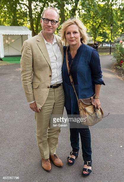 Adrian Edmonson and Jennifer Saunders attend a party to mark the reopening of Imperial War Museum on July 17 2014 in London England