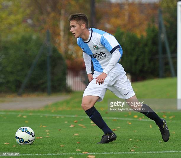 Adrian Edomartin of Blackburn Rovers in action during the Barclays Premier League Under 18 fixture between Liverpool and Blackburn Rovers at the...
