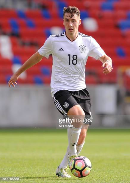 Adrian Fein during the Football European Under19 Championship 2018 Qualifying Round match between Germany and Belarus on October 4 2017 in Zabrze...