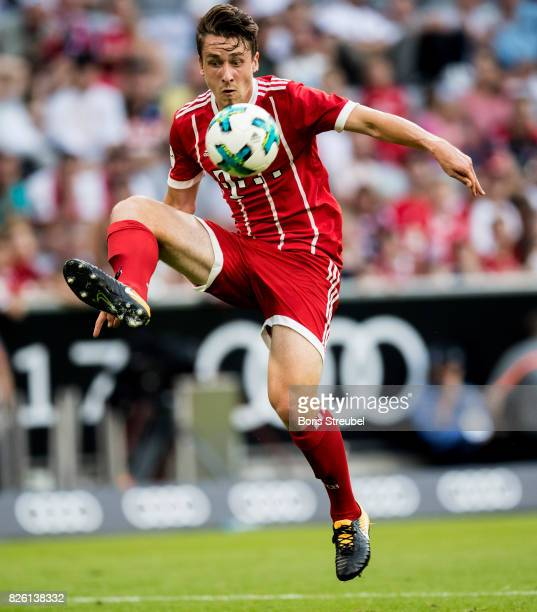 Adrian Fein of FC Bayern Muenchen controls the ball during the Audi Cup 2017 match between SSC Napoli and FC Bayern Muenchen at Allianz Arena on...