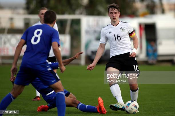 Adrian Fein of Germany during the U19 International Friendly between U19 Cyprus and U19 Germany at Anagennisi Dherynia Stadium on November 12 2017 in...