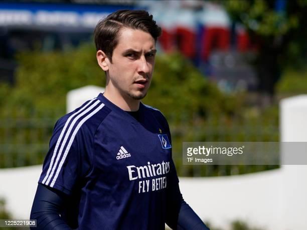 Adrian Fein of Hamburger SV during the training session of Hamburger SV on May 15 2020 in Herzogenaurach Germany