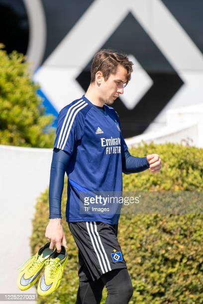 Adrian Fein of Hamburger SV during the training session of Hamburger SV on May 16 2020 in Herzogenaurach Germany