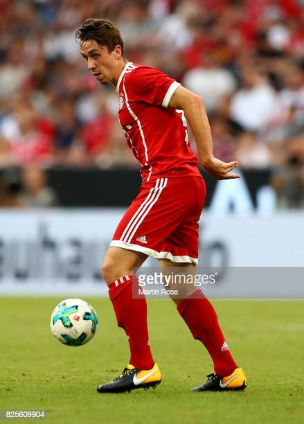 Adrian Fein of Muenchen runs with the ball during the Audi Cup 2017 match between SSC Napoli and FC Bayern Muenchen at Allianz Arena on August 2 2017...