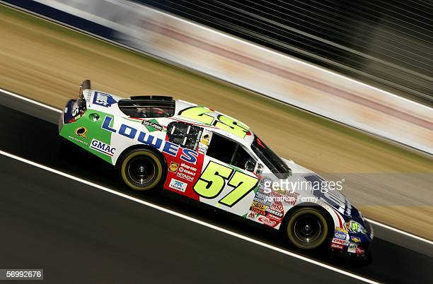 Adrian Fernandez drives the Lowe's Chevrolet during practice for the NASCAR Busch Series TelcelMotorola 200 on March 3 2006 at Autodromo Hermanos...
