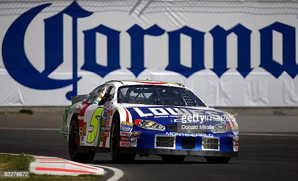 Adrian Fernandez of Mexico drives his Lowe's/Hatachi Power Tools Chevrolet Monte Carlo during the practice for the Telcel Mexico 200 Nascar Busch...
