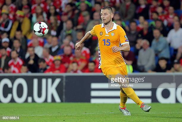 Adrian Gascaval of Moldova during the 2018 FIFA World Cup Qualifier between Wales and Moldova at the Cardiff City Stadium on September 5 2016 in...