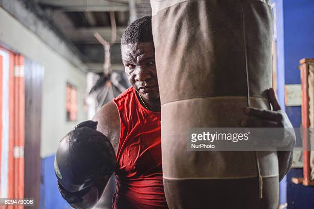 Adrian Gonzalez Gonzalez a heavyweight champion of Cuba 2006 2008 and 2012 during his training at the Kid Chocolate boxing gym in Old Havana Adrian...