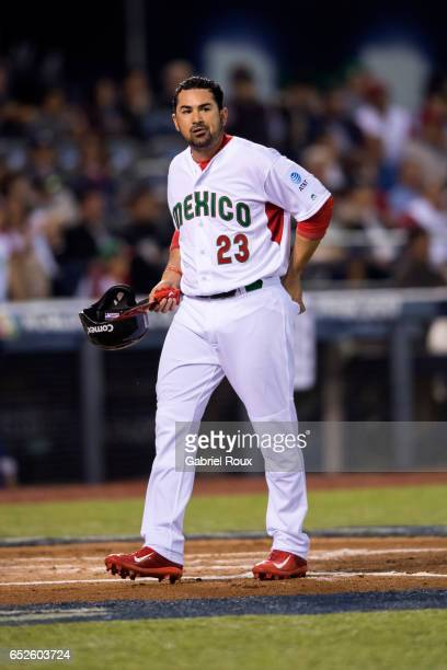 Adrian Gonzalez looks on during Game 4 of Pool D of the 2017 World Baseball Classic against Team Puerto Rico on Saturday March 11 2017 at Estadio...