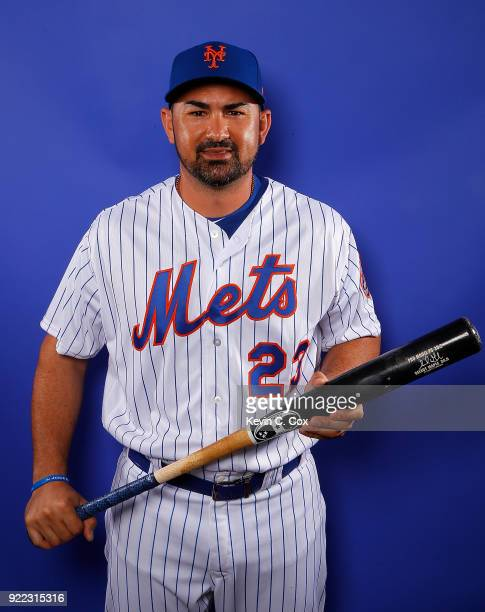 RY 21 RY 21 RY 21 RY 21 Adrian Gonzalez of the New York Mets poses for a photo during photo days at First Data Field on February 21 2018 in Port St...