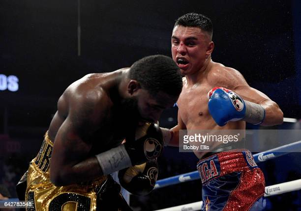 Adrian Granados right punches Adrian Broder during their fight on February 18 2017 in Cincinnati Ohio