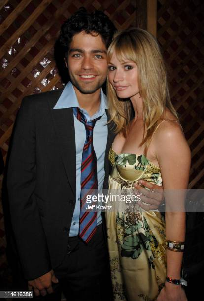 Adrian Grenier and Cameron Richardson during 'Entourage' Third Season Premiere in Los Angeles After Party in Los Angeles California United States