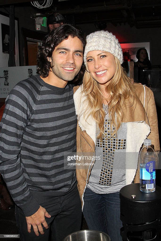 Adrian Grenier and Erica Hosseini at the Lil Jon Birthday Party at Downstairs Bar on January 17, 2013 in Park City, Utah.