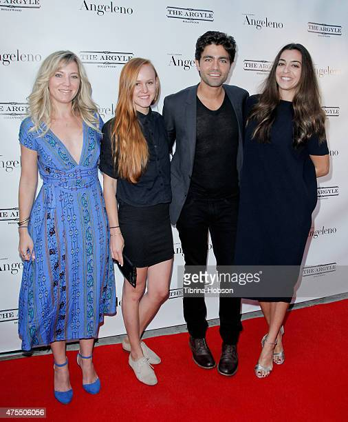 Adrian Grenier and his Entourage attend the Angeleno Magazine's June issue release party at The Argyle on May 31 2015 in Hollywood California