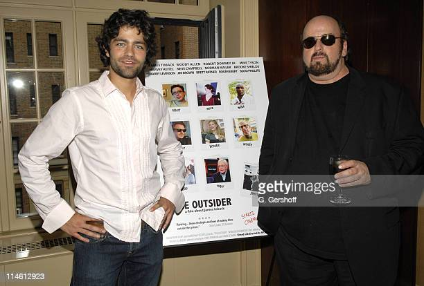 Adrian Grenier and James Toback during Special Screening and Celebration of Nicholas Jarecki's 'The Outsider' at Gramercy Park home location in New...
