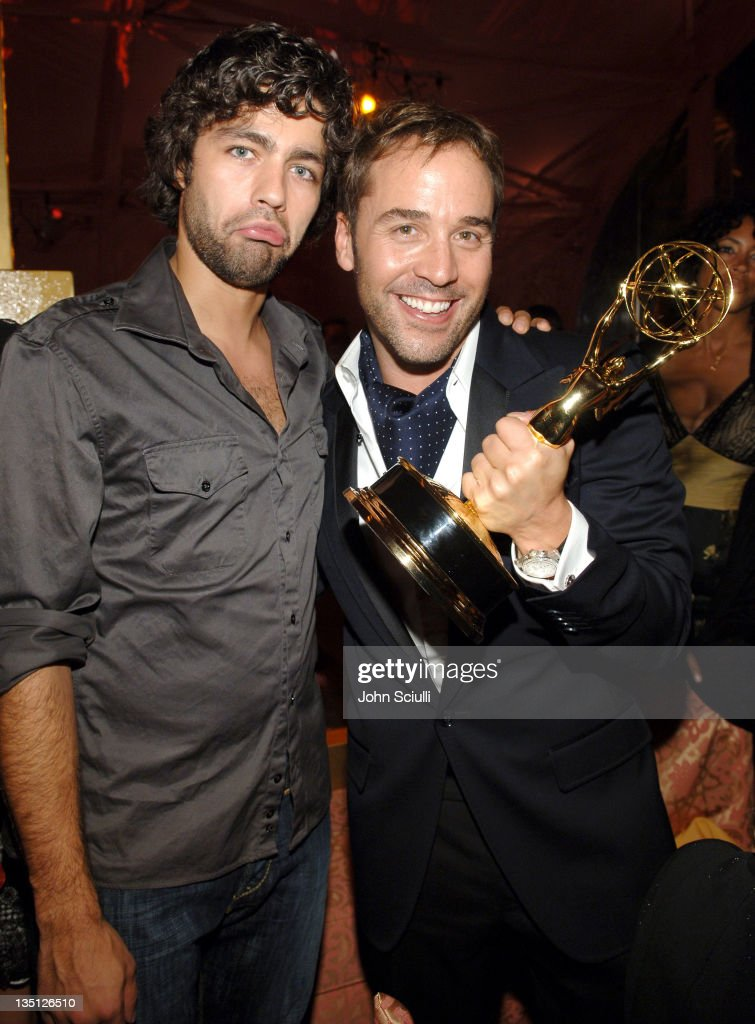 Adrian Grenier and Jeremy Piven during 58th Annual Primetime Emmy Awards - HBO After Party - Red Carpet and Inside at Pacific Design Center in West Hollywood, California, United States.