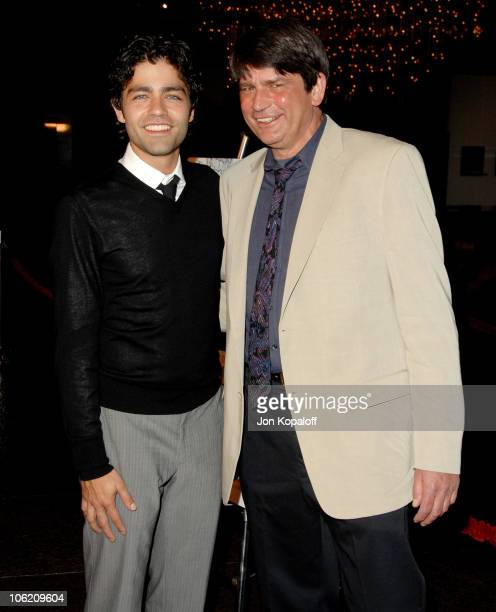 Adrian Grenier and John Dunbar Adrian's Dad during Shot In the Dark Los Angeles Premiere Arrivals at Director's Guild of America in Los Angeles...
