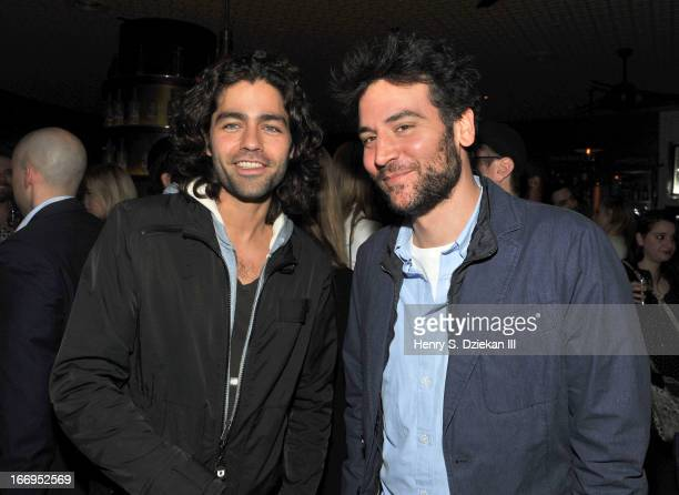 """Adrian Grenier and Josh Radnor attend the after party for the Cinema Society & Bally screening of Sony Pictures Classics' """"At Any Price"""" at Clarkson..."""