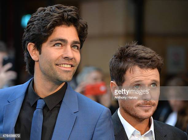 Adrian Grenier and Kevin Connolly attend the European Premiere of Entourage at Vue West End on June 9 2015 in London England