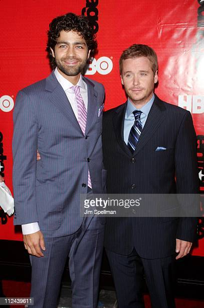 """Adrian Grenier and Kevin Connolly during """"Entourage"""" Season 4 Premiere - Arrivals at Zeigfeld Theatre in New York City, New York, United States."""