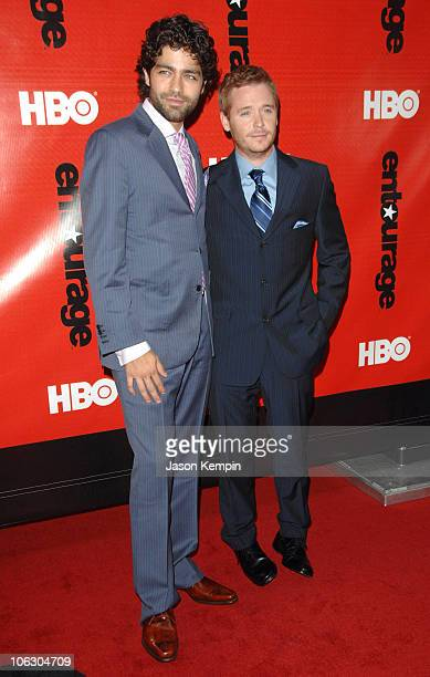 Adrian Grenier and Kevin Connolly during HBO Presents The Fourth Season Premiere of Entourage at Ziegfeld Theater in New York City New York United...