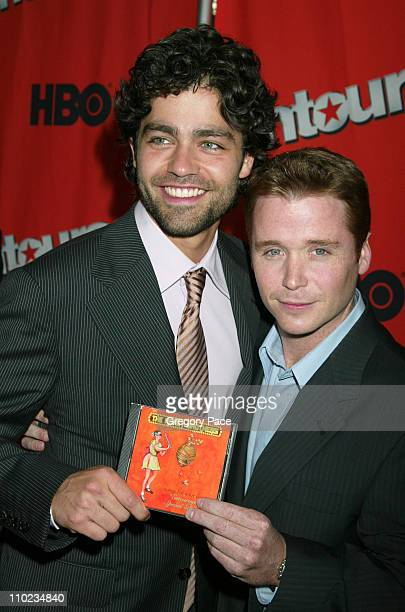 Adrian Grenier and Kevin Connolly during HBO's Entourage Season 2 New York City Premiere at The Tent at Lincoln Center Damrosch Park in New York City...