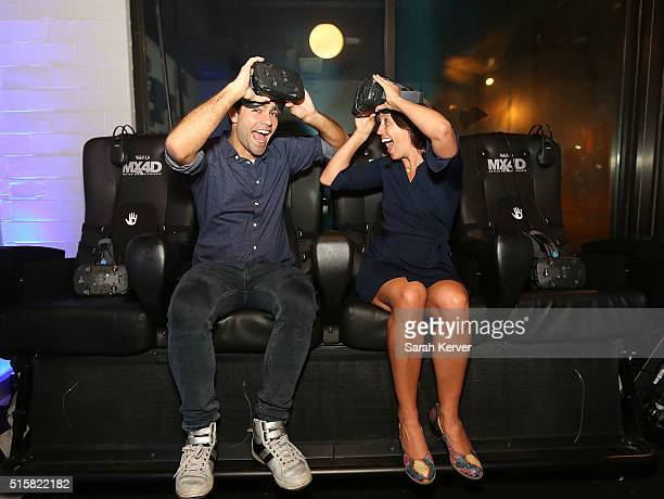 Adrian Grenier and Lonely Whale Foundation's Dune Ives attend Social Good Celebration At The #DellLounge Featuring A Performance By THE SKINS...