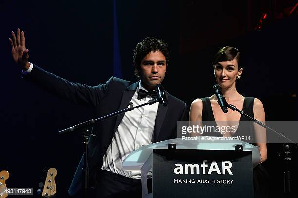 Adrian Grenier and Paz Vega attend amfAR's 21st Cinema Against AIDS Gala Presented By WORLDVIEW BOLD FILMS And BVLGARI at Hotel du CapEdenRoc on May...