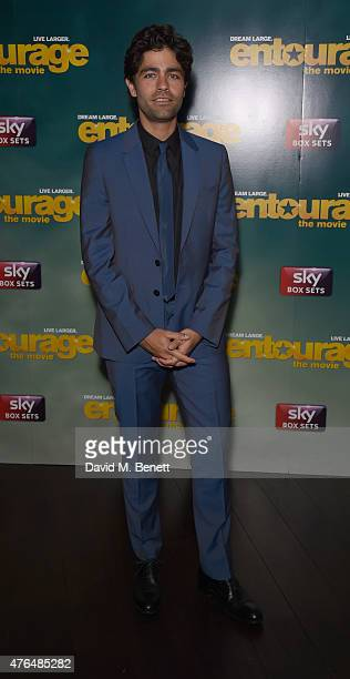 Adrian Grenier attends the after party following the European Premiere of Entourage at the Rumpus Room in the Mondrian Hotel on June 9 2015 in London...