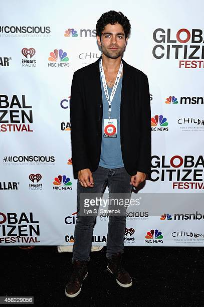 Adrian Grenier attends VIP Lounge at the 2014 Global Citizen Festival to end extreme poverty by 2030 in Central Park on September 27, 2014 in New...