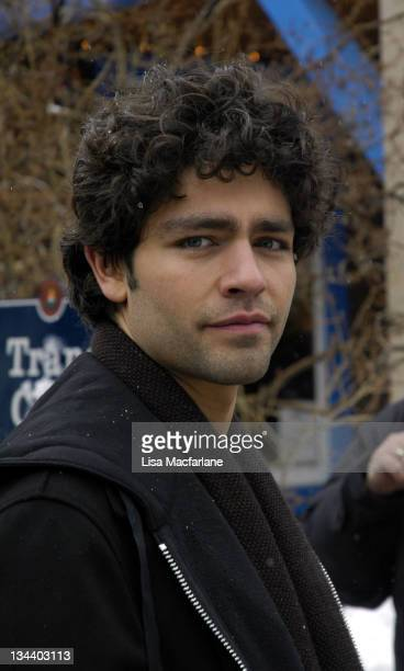 "Adrian Grenier during 2005 Sundance Film Festival - Taping of ""Entourage"" - January 27, 2005 at Main Street in Park City, Utah, United States."