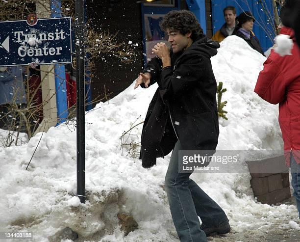 Adrian Grenier during 2005 Sundance Film Festival Taping of Entourage January 27 2005 at Main Street in Park City Utah United States