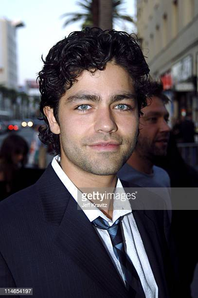 Adrian Grenier during 'Entourage' Season Two Los Angeles Premiere Arrivals at El Capitan Theater in Hollywood California United States