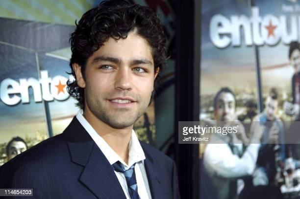 """Adrian Grenier during """"Entourage"""" Season Two Los Angeles Premiere - Arrivals at El Capitan Theater in Hollywood, California, United States."""