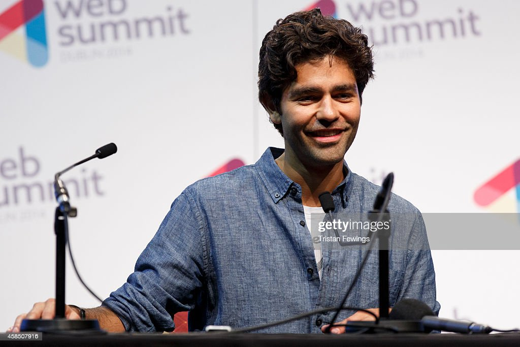 Adrian Grenier, Founder of SHT.com and Wreckroom Records attends a press conference at the 2014 Web Summit on November 6, 2014 in Dublin, Ireland.
