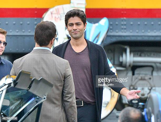 Adrian Grenier is seen on the set of 'Entourage' on February 07 2015 in Los Angeles California