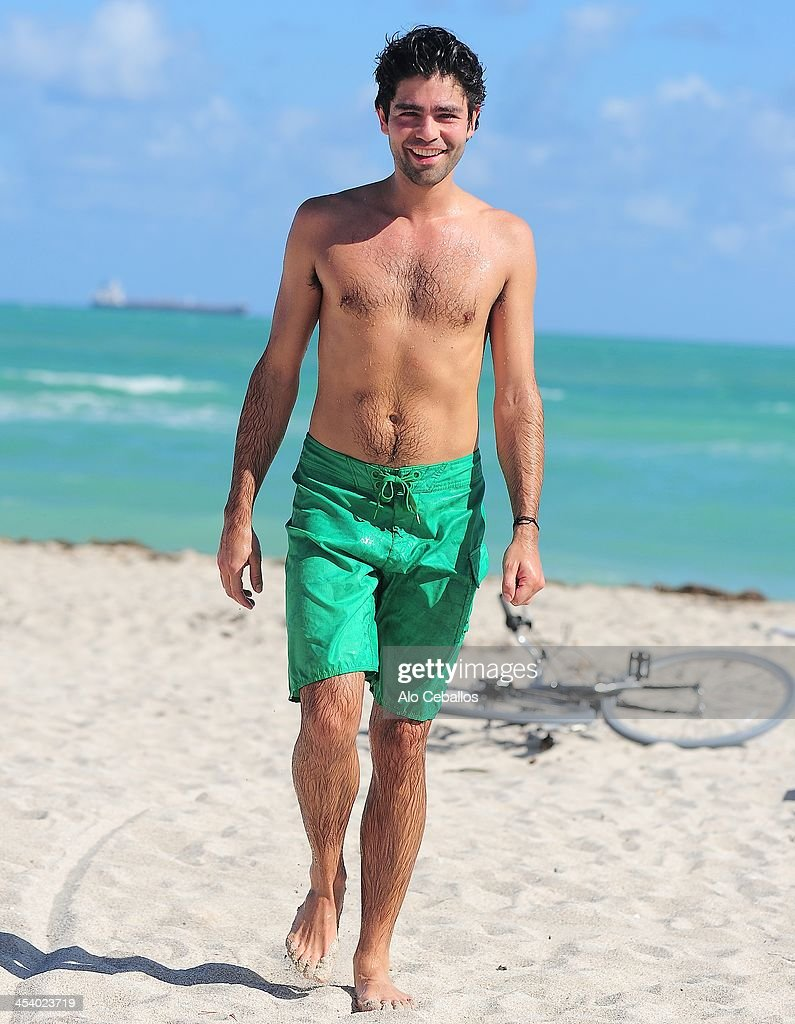 Adrian Grenier is sighted on December 6, 2013 in Miami Beach, Florida.