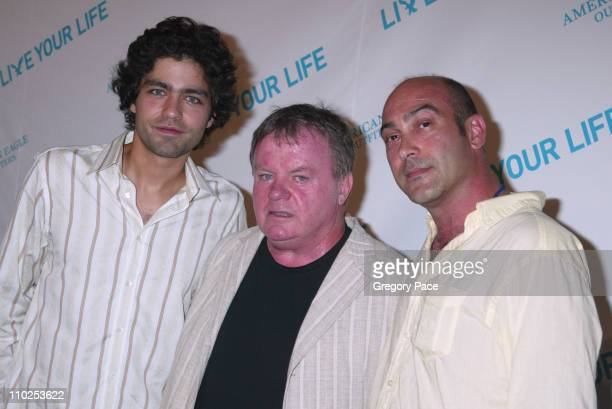 Adrian Grenier Jack McGee and John Ventimiglia during American Eagle Announces Six Winners of National 'Live Your Life' Contest at Union Square...